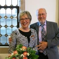 Unsere Preisträgerin mit ihrem Mann Francesco Merhar