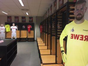 die Spielerkabine des 1.FC Köln